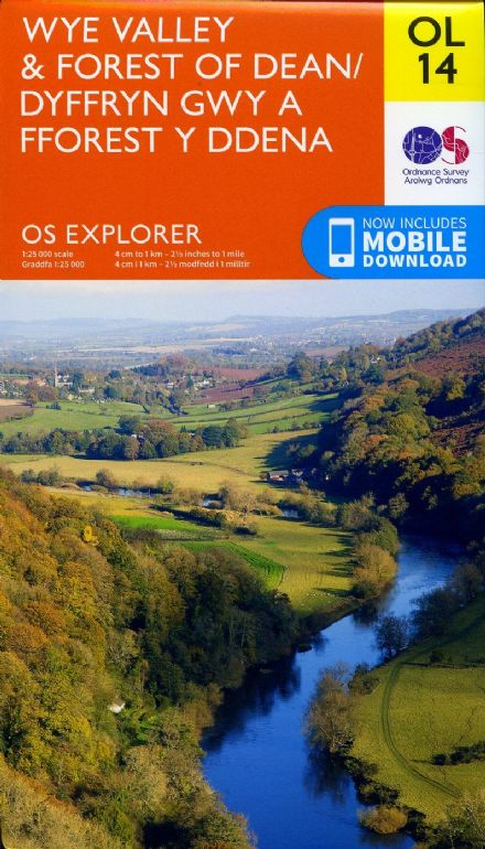 OS Explorer OL 14 Wye Valley & Forest of Dean
